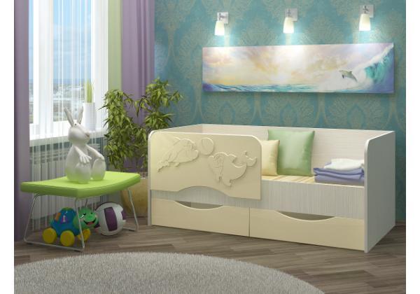 Детская кровать Дельфин-2 МДФ 1,8 м. – фото 2
